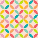 Винтажный абстрактный безшовный стиль круга картины Стоковые Изображения