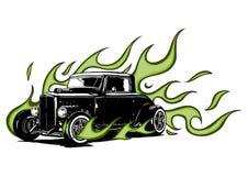 Винтажный автомобиль, гараж горячей штанги, автомобиль hotrods, автомобиль старой школы, бесплатная иллюстрация