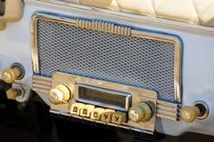 Винтажный автомобильный радиоприемник Стоковые Изображения RF