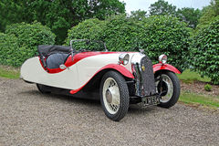 Винтажный автомобиль классики Моргана f2 стоковые изображения