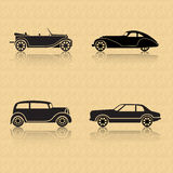 Винтажный автомобиль на коричневой предпосылке бесплатная иллюстрация