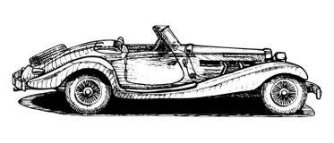 Винтажный автомобиль с откидным верхом Стоковые Изображения RF
