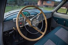 Винтажный автомобиль GAZ M21 Волга Стоковые Изображения RF
