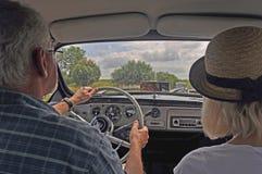 Винтажный автомобиль Saab 95 управляя Стоковые Фото