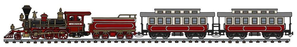 Винтажный американский поезд пара Стоковые Изображения RF