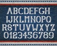 Винтажный американский шрифт Стоковая Фотография RF