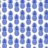 Винтажный ананас безшовный Стоковые Фото