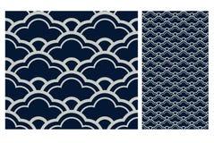 Винтажный античный безшовный дизайн делает по образцу плитки в иллюстрации вектора Стоковые Фотографии RF