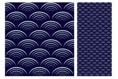 Винтажный античный безшовный дизайн делает по образцу плитки в иллюстрации вектора Стоковое Изображение RF