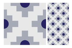 Винтажный античный безшовный дизайн делает по образцу плитки в иллюстрации вектора Стоковая Фотография RF