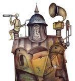 Винтажный астроном Стоковые Фотографии RF