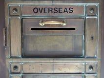 Винтажный латунный почтовый ящик Стоковое Фото