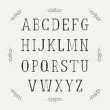 Винтажный алфавит иллюстрация вектора
