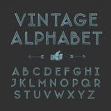 Винтажный алфавит Стоковая Фотография RF