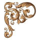 Винтажный барочный вектор орнамента Стоковое Фото