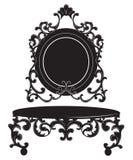 Винтажный барочный имперский комплект таблицы шлихты Стоковое фото RF