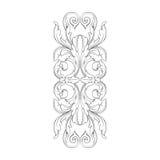 Винтажный барочный орнамент переченя гравировки рамки Стоковая Фотография RF
