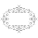 Винтажный барочный орнамент переченя гравировки рамки Стоковые Фотографии RF