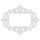 Винтажный барочный орнамент переченя гравировки рамки Стоковые Изображения RF