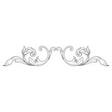 Винтажный барочный орнамент переченя гравировки рамки Стоковые Фото