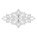 Винтажный барочный орнамент переченя гравировки рамки Стоковое фото RF