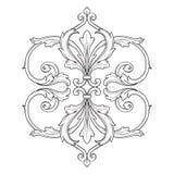 Винтажный барочный орнамент переченя гравировки рамки иллюстрация штока