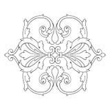 Винтажный барочный орнамент переченя гравировки рамки Стоковое Фото