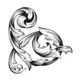 Винтажный барочный орнамент переченя гравировки рамки бесплатная иллюстрация