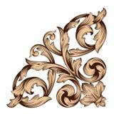 Винтажный барочный орнамент переченя гравировки рамки Стоковое Изображение