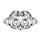 Винтажный барочный орнамент переченя гравировки рамки Стоковые Изображения