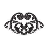 Винтажный барочный орнамент переченя гравировки рамки Стоковая Фотография