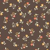 Винтажный безшовный цветочный узор Стоковое Изображение