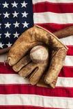 Винтажный бейсбол Стоковые Фото