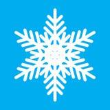 Винтажный белый значок снежинки Стоковые Фото