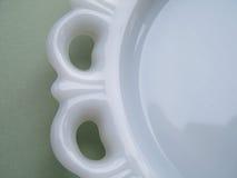 Винтажный белый шнурок Milkglass Стоковые Изображения RF