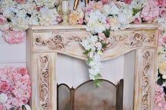Винтажный богатый интерьер живущей комнаты Стоковое Фото