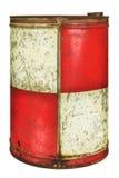 Винтажный бочонок масла изолированный на белизне Стоковая Фотография