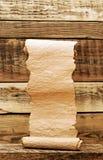 Винтажный бумажный перечень Стоковые Фото