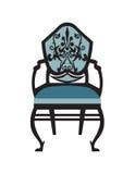 Винтажный вектор мебели стула Стоковые Изображения