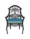 Винтажный вектор мебели стула Стоковое Фото