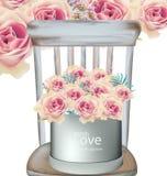 Винтажный вектор флористического букета роз Стоковое Фото