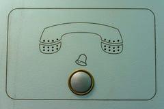 Винтажный дверной звонок внутренной связи с знаком телефона Стоковая Фотография RF
