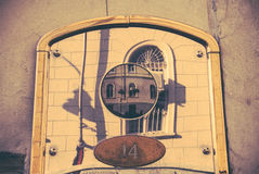 Винтажный дверной звонок стоковые фотографии rf