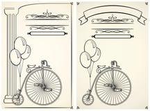 Винтажный велосипед и воздушные шары Стоковые Фото