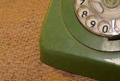 Винтажный взгляд крупного плана шкалы телефона стиля Стоковые Фотографии RF