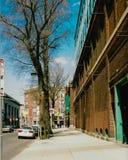 Винтажный взгляд пути Yawkey, Бостона, МАМ Стоковые Изображения RF