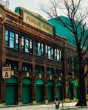 Винтажный взгляд пути Yawkey, Бостона, МАМ Стоковое фото RF