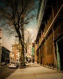 Винтажный взгляд пути Yawkey, Бостона, МАМ Стоковое Изображение