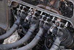 Винтажный двигатель автомобиля Стоковая Фотография RF