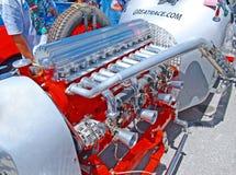 Винтажный двигатель гоночной машины Стоковые Изображения RF